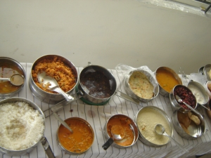 Traditional south Indian food